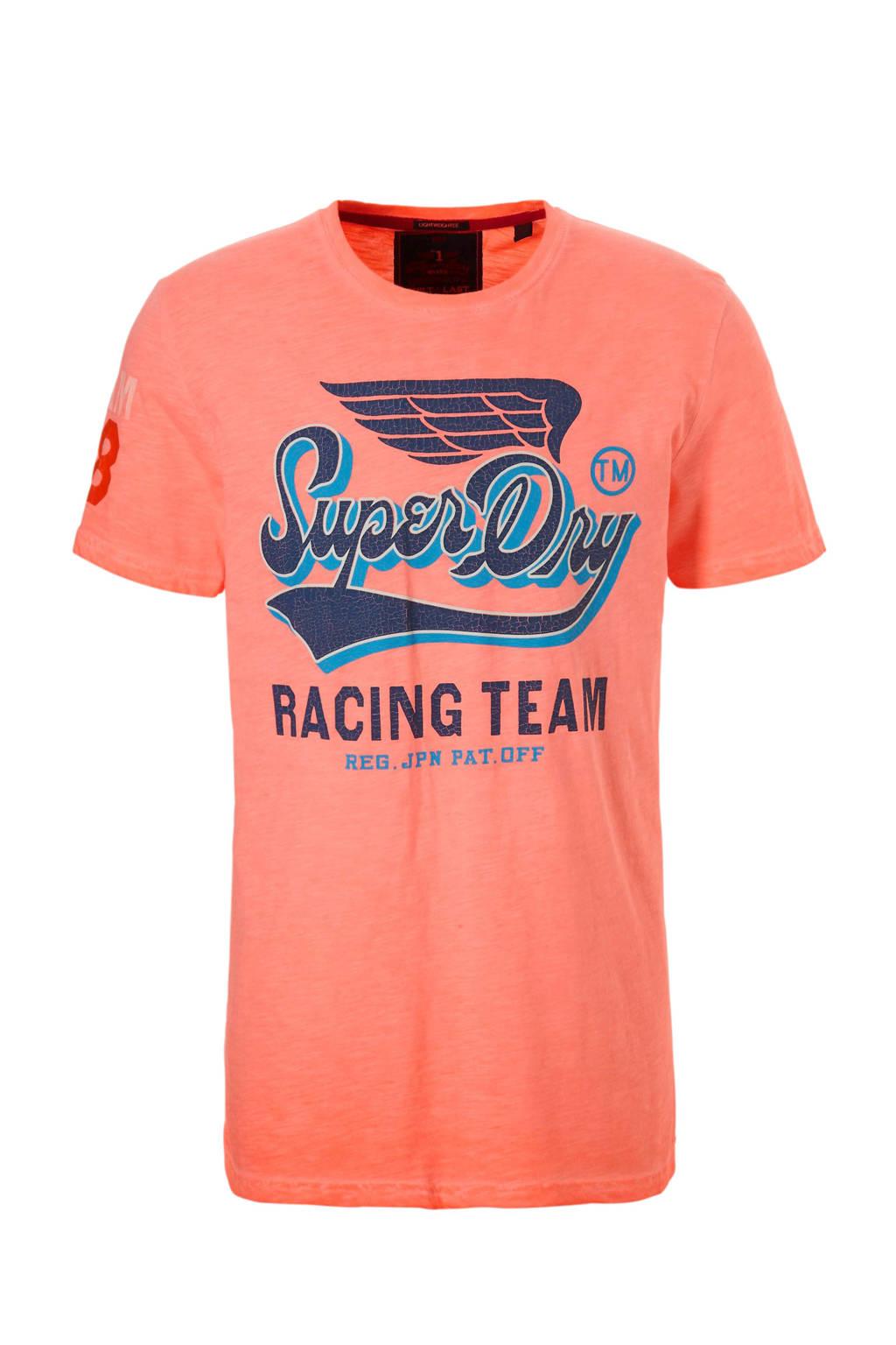 Superdry T-shirt met opdruk, Oranje