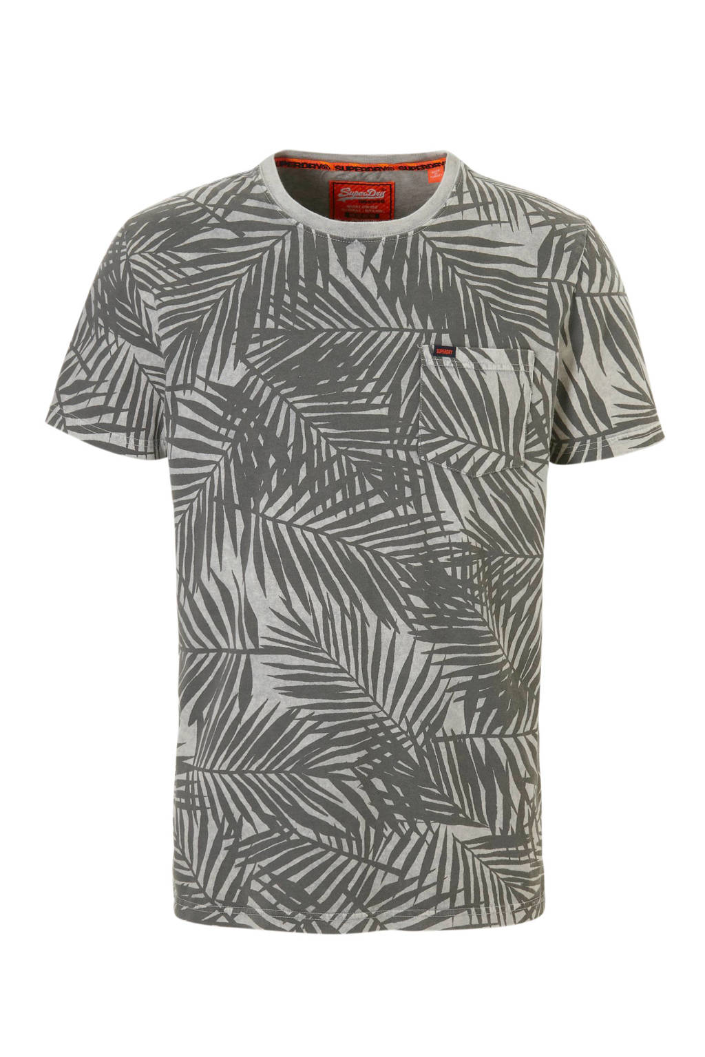Superdry T-shirt alloverprint, Grijs