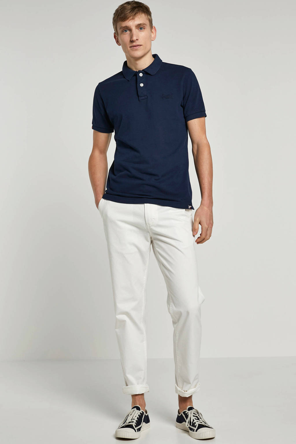 Superdry regular fit polo, Blauw
