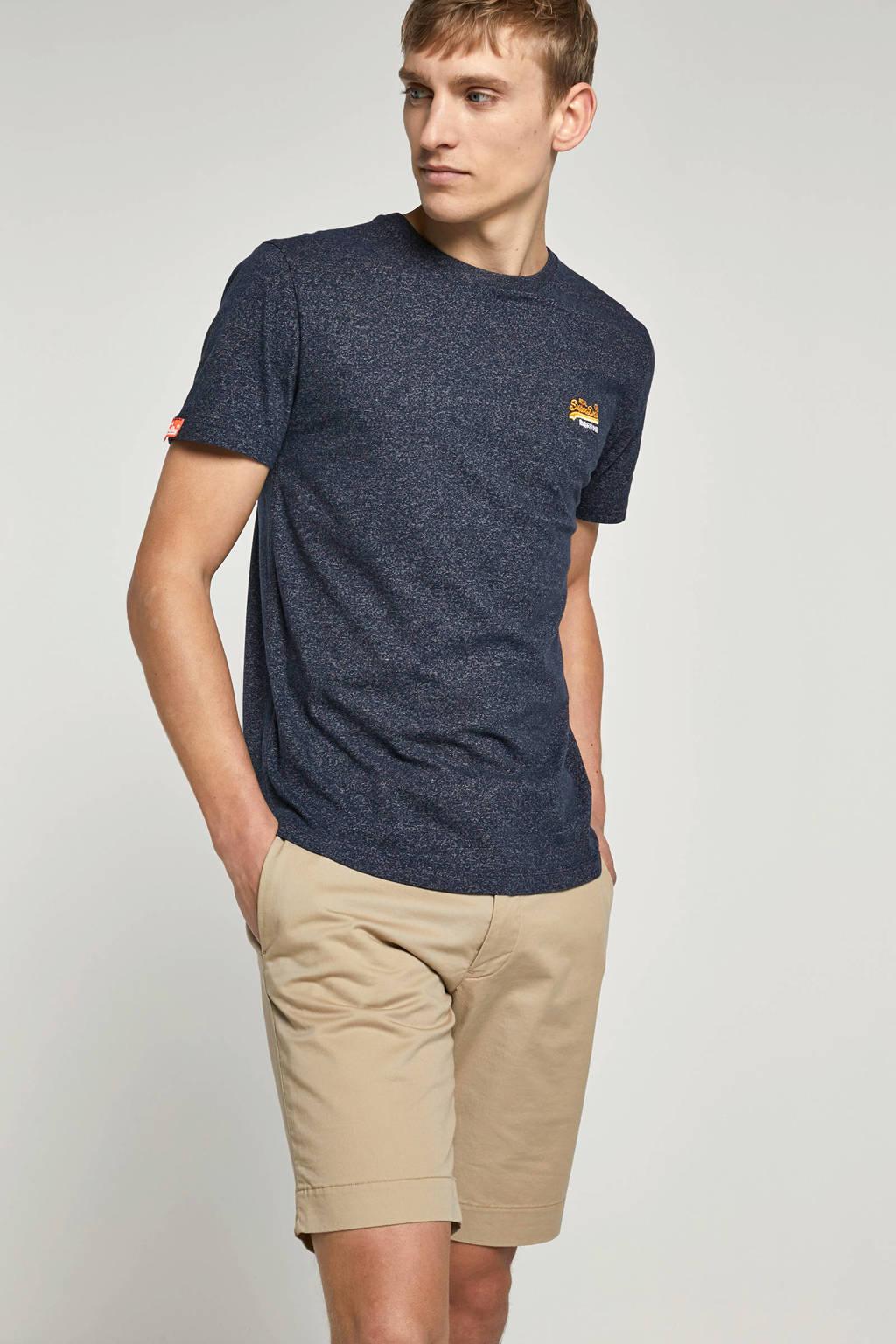 Superdry gemêleerd T-shirt donkerblauw, Blauw