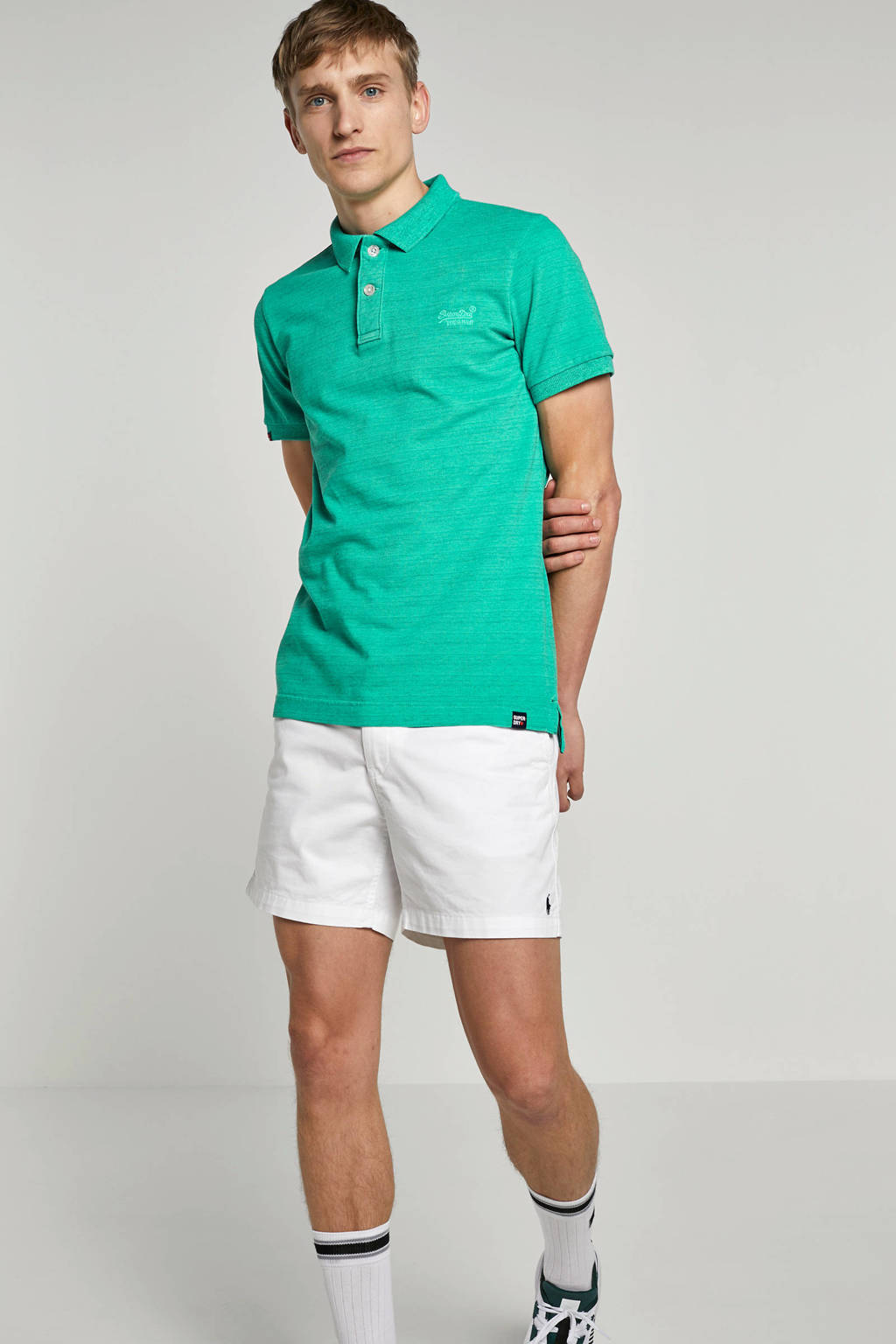Superdry gemêleerde regular fit polo, Groen