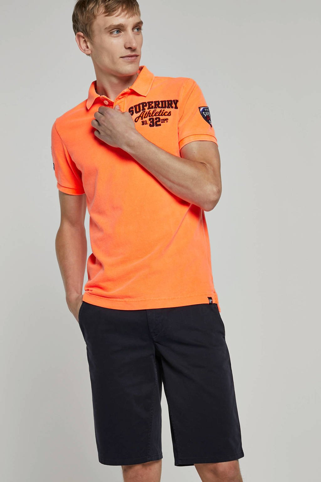 Superdry regular fit polo oranje, Oranje