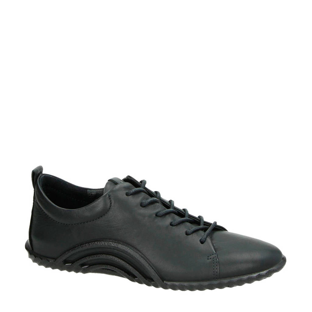Ecco   leren sneakers zwart, Zwart