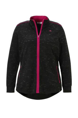 XL Yessica sportieve sweatvest  zwart