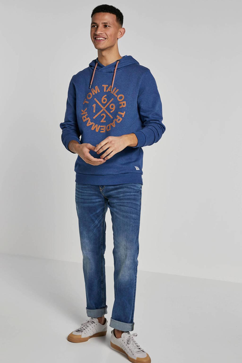 Tom Tailor hoodie, blauw melange