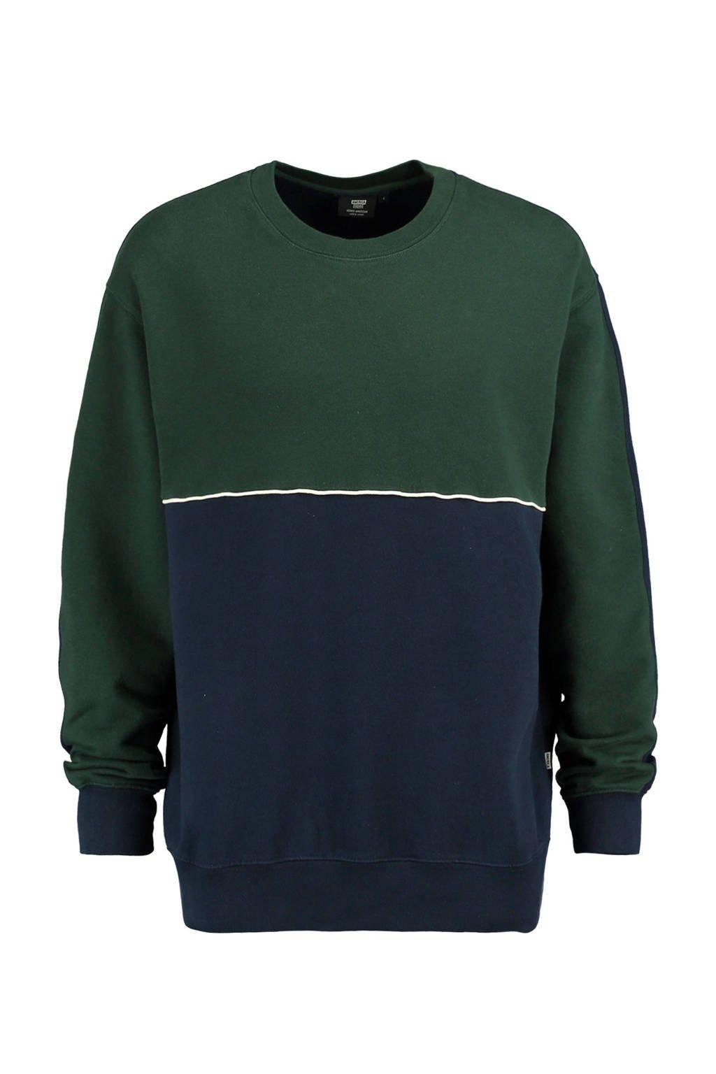 America Today sweater donkergroen, Donkergroen/marine