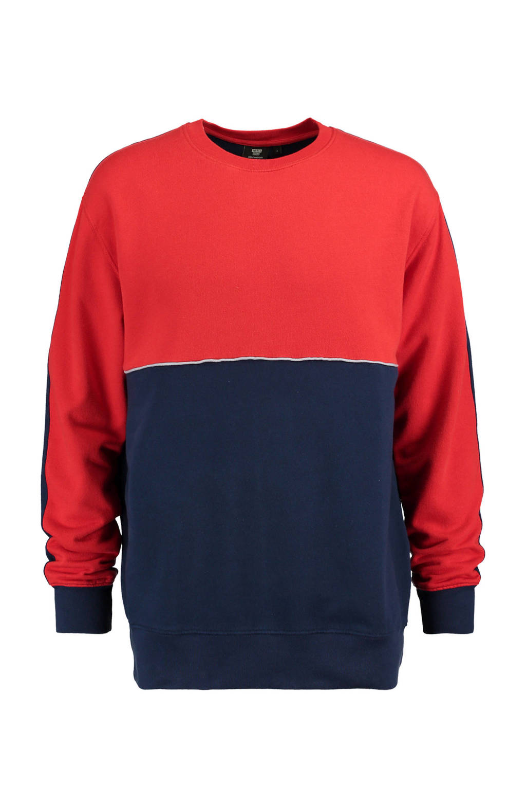 America Today sweater rood, Rood/marine