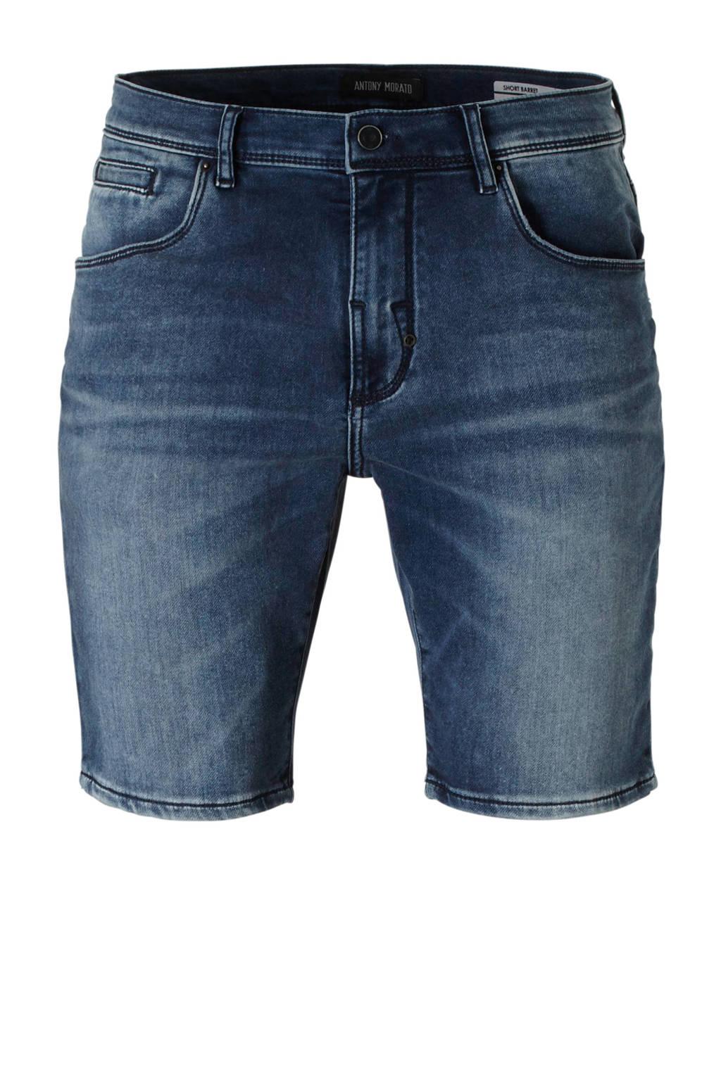 Antony Morato skinny fit jeans short, Donkerblauw