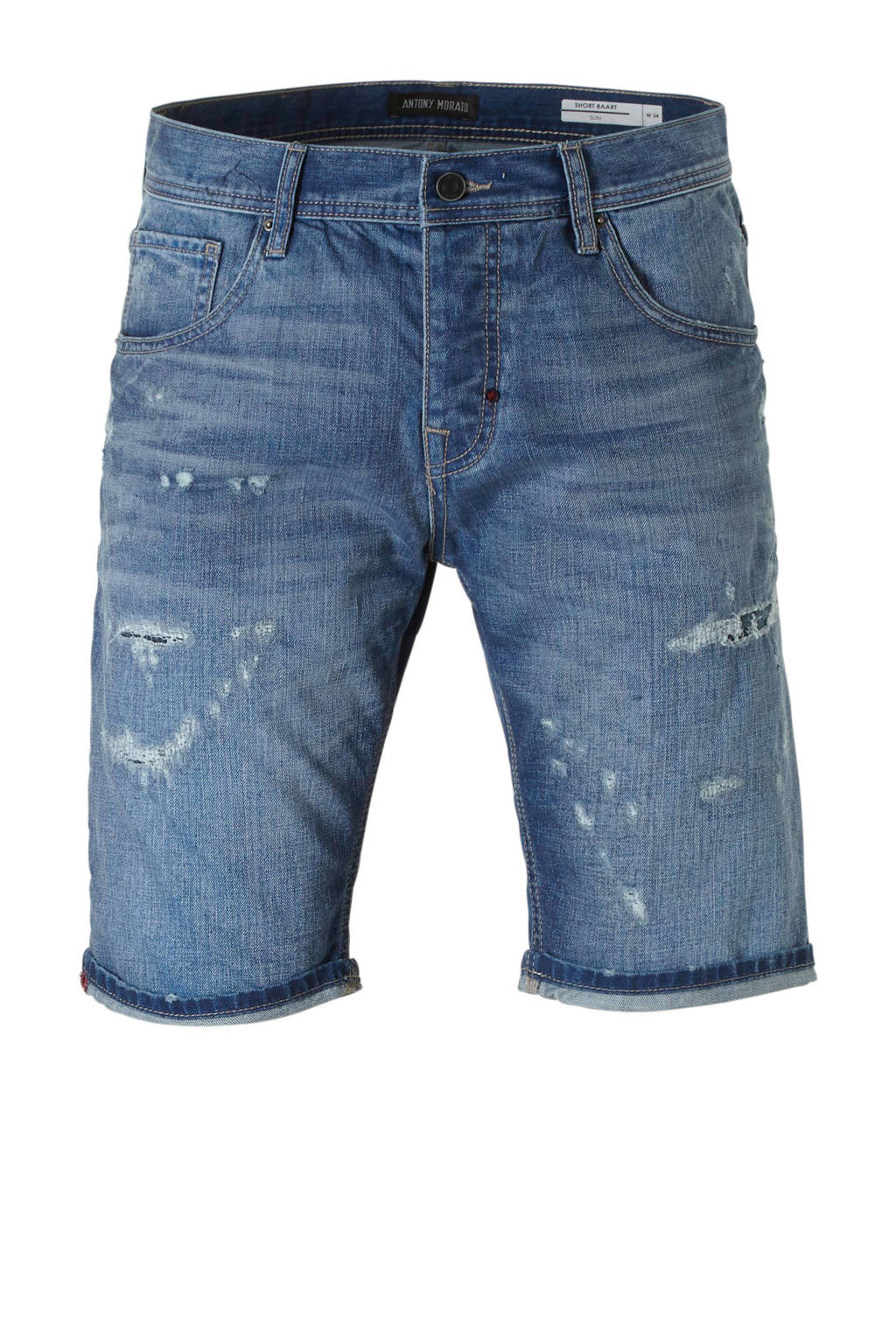 Antony Morato slim fit jeans short, Blauw