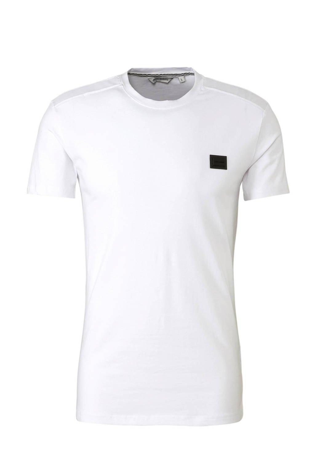 Antony Morato T-shirt met logo wit, Wit