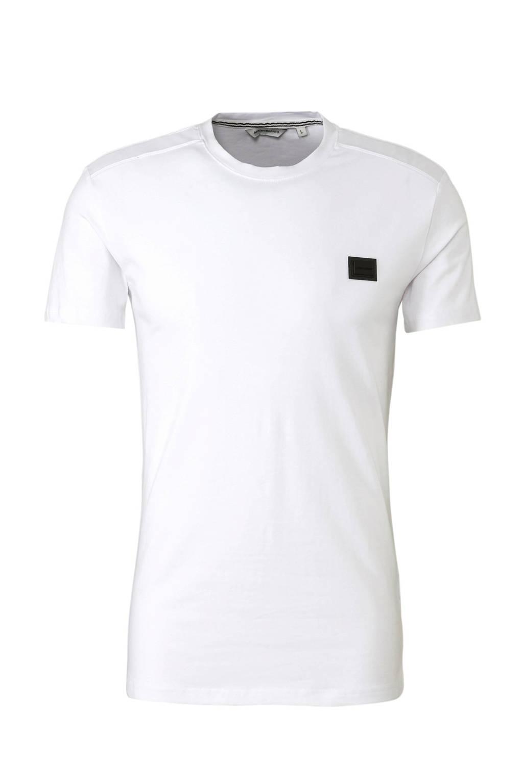 Antony Morato T-shirt wit, Wit