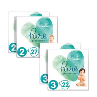 Pure Protection maat 2 + 3 (4-10 kg) 98 luiers