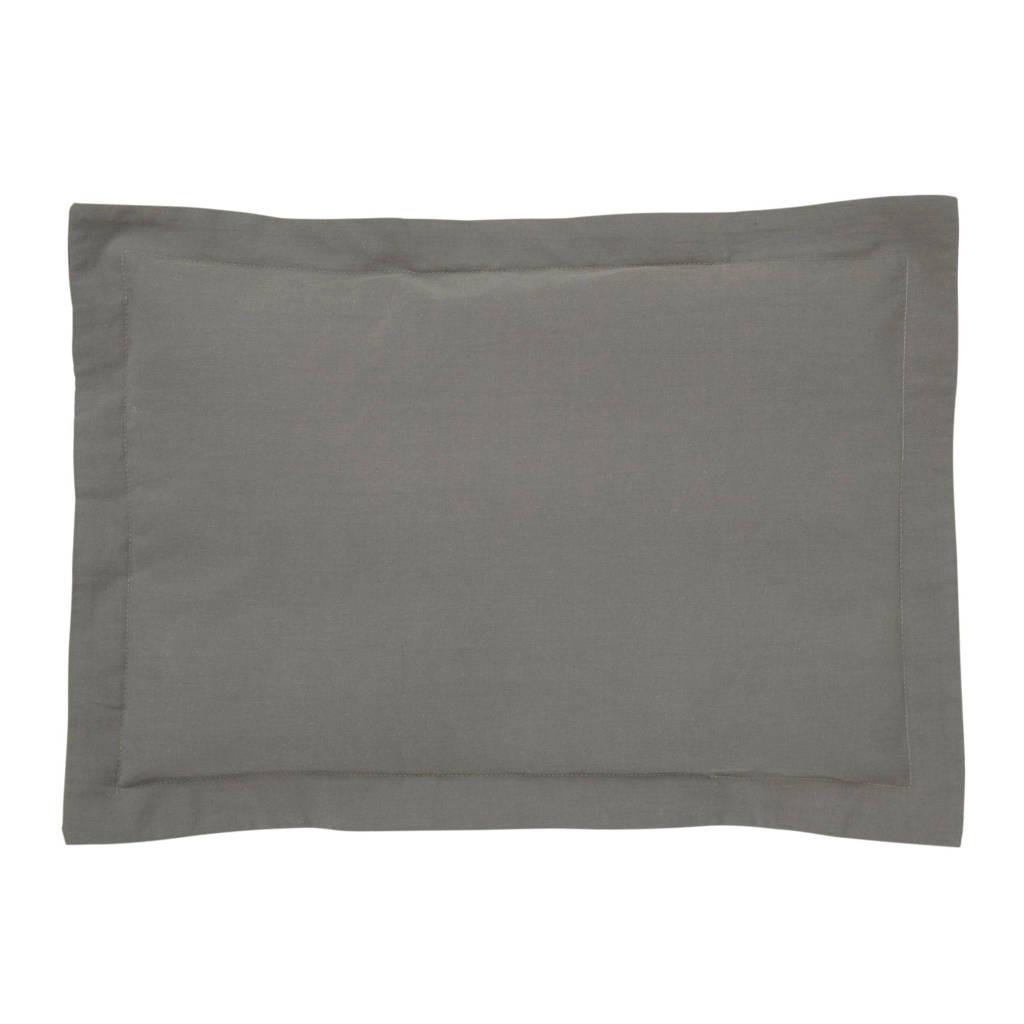 IMPS&ELFS Biologisch katoen kussenlsoop grijs 30x40 cm, Grijs
