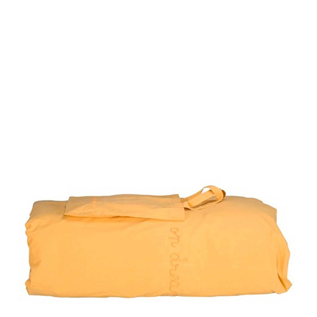 IMPS&ELFS dekbedhoes ledikant geel 100x135 cm, Geel