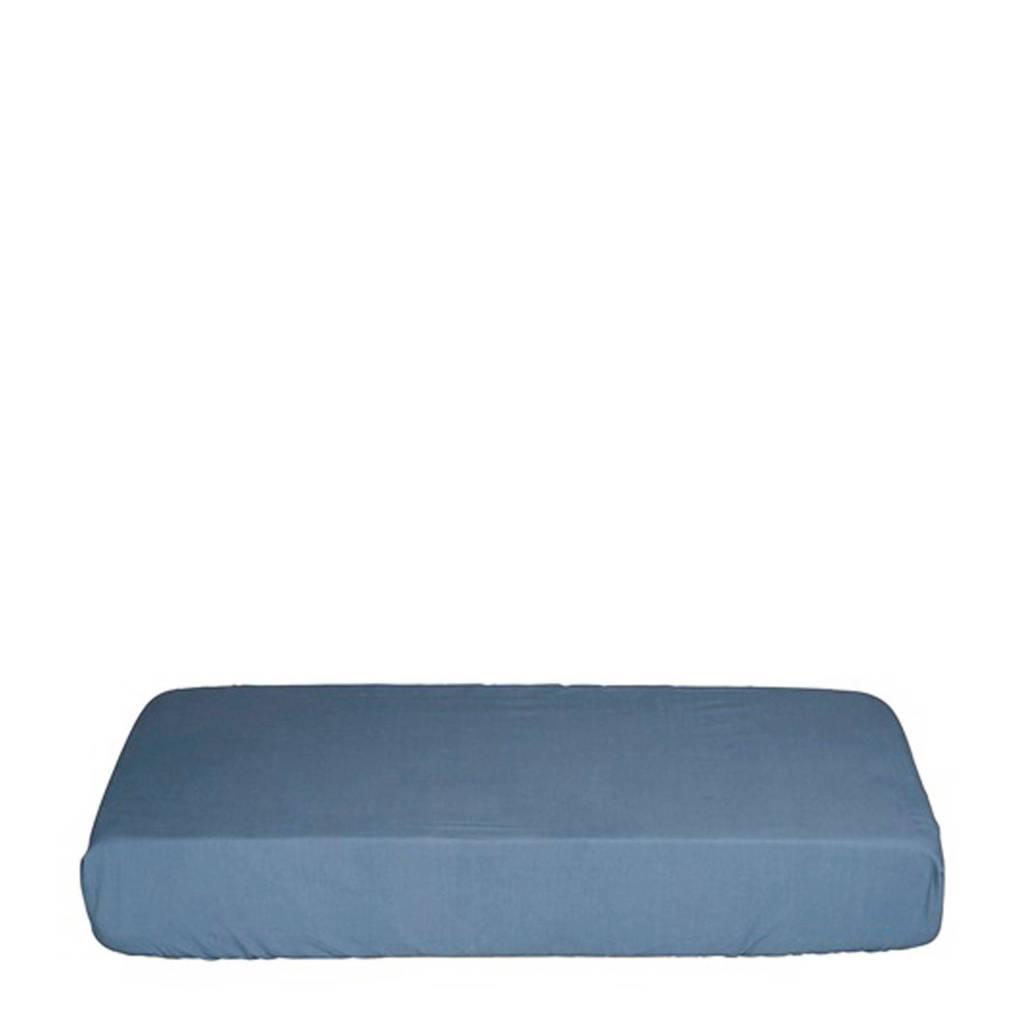IMPS&ELFS Biologisch katoen hoeslaken wieg blauw 40x80 cm Blauw