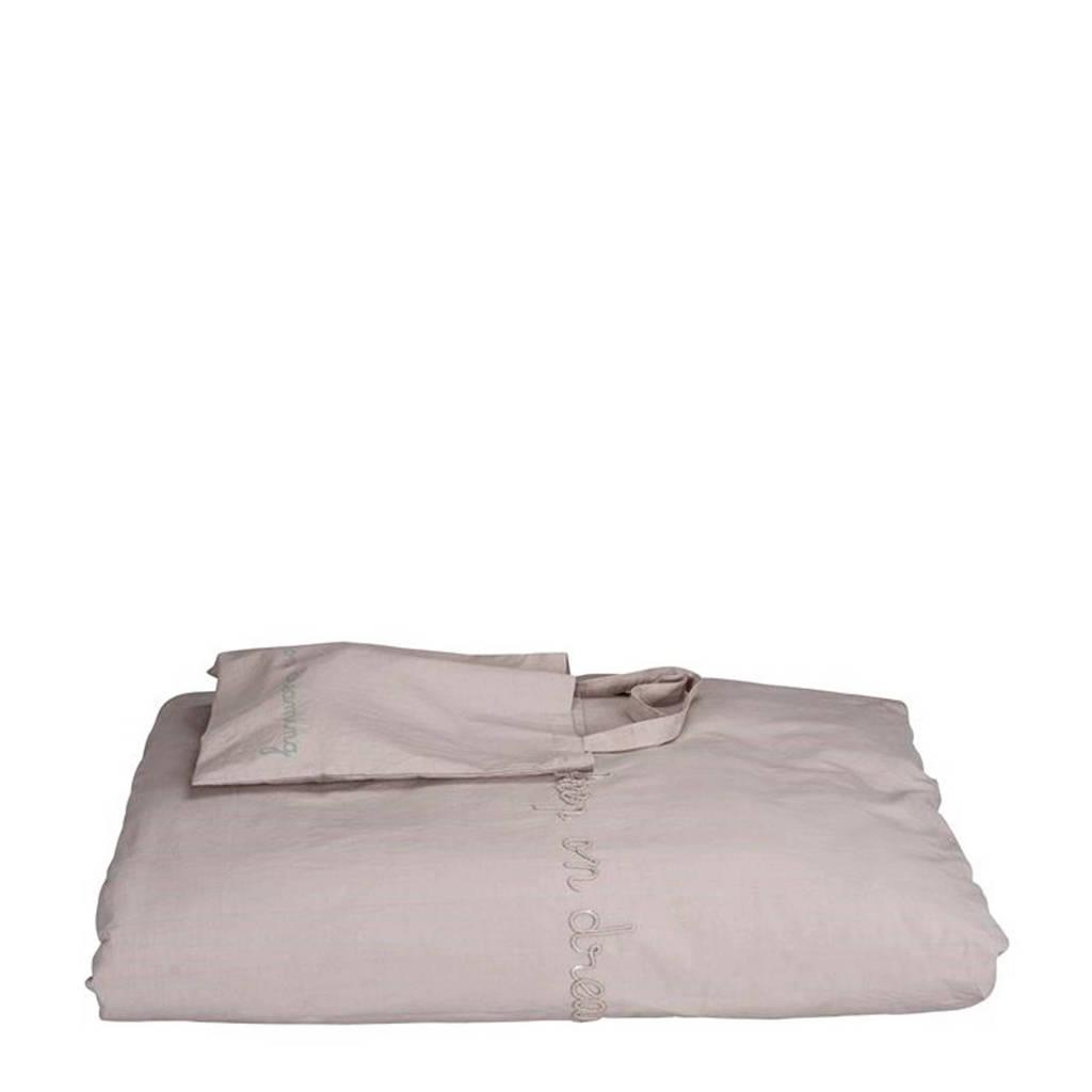 IMPS&ELFS dekbedhoes ledikant grijs 100x135 cm, Grijs