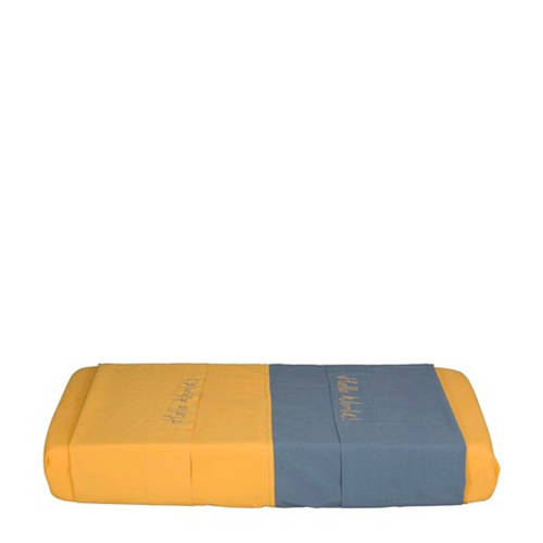IMPS&ELFS wieglaken blauw/geel 80x110cm kopen