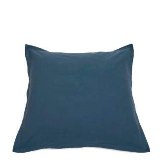 Biologisch katoen kussensloop blauw 80x80 cm