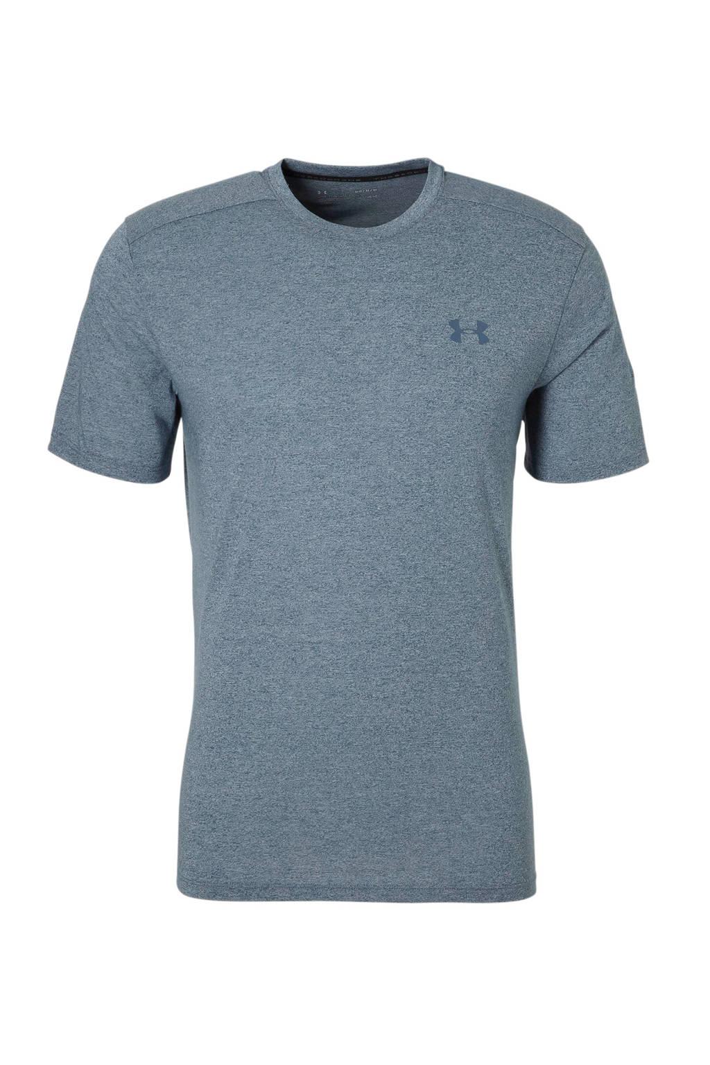Under Armour   sport T-shirt blauw, blauw melange