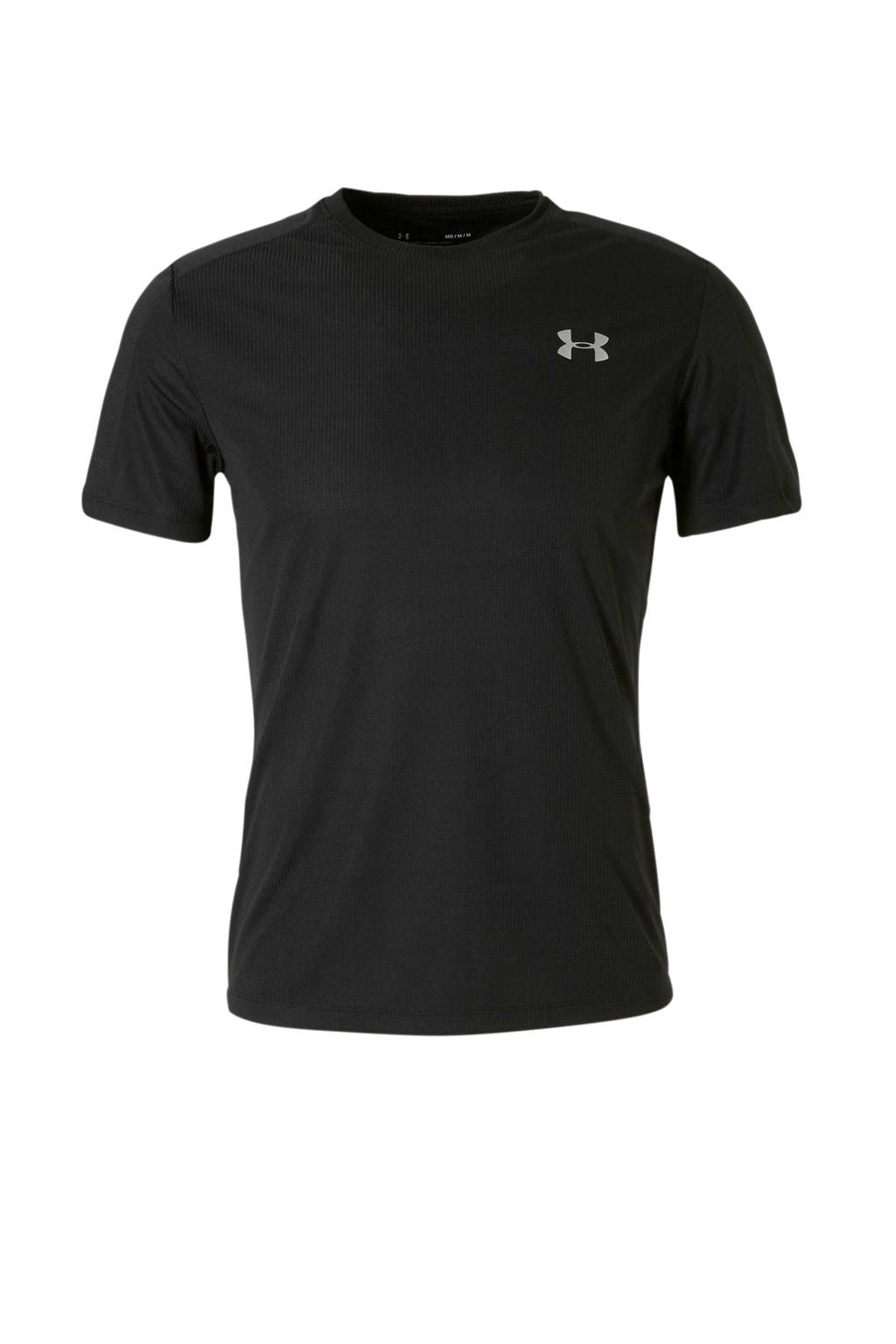 Under Armour   hardloop T-shirt zwart, Zwart