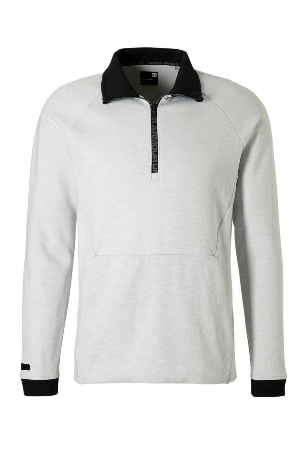 Under Armour   sweater, Lichtgrijs/zwart