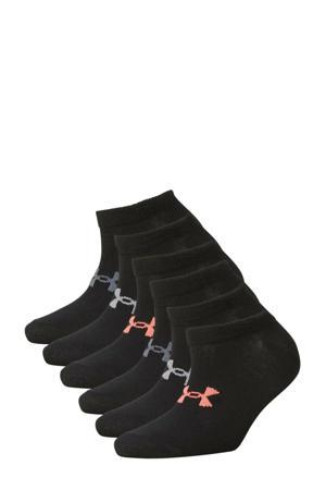 sportsokken zwart (set van 6)