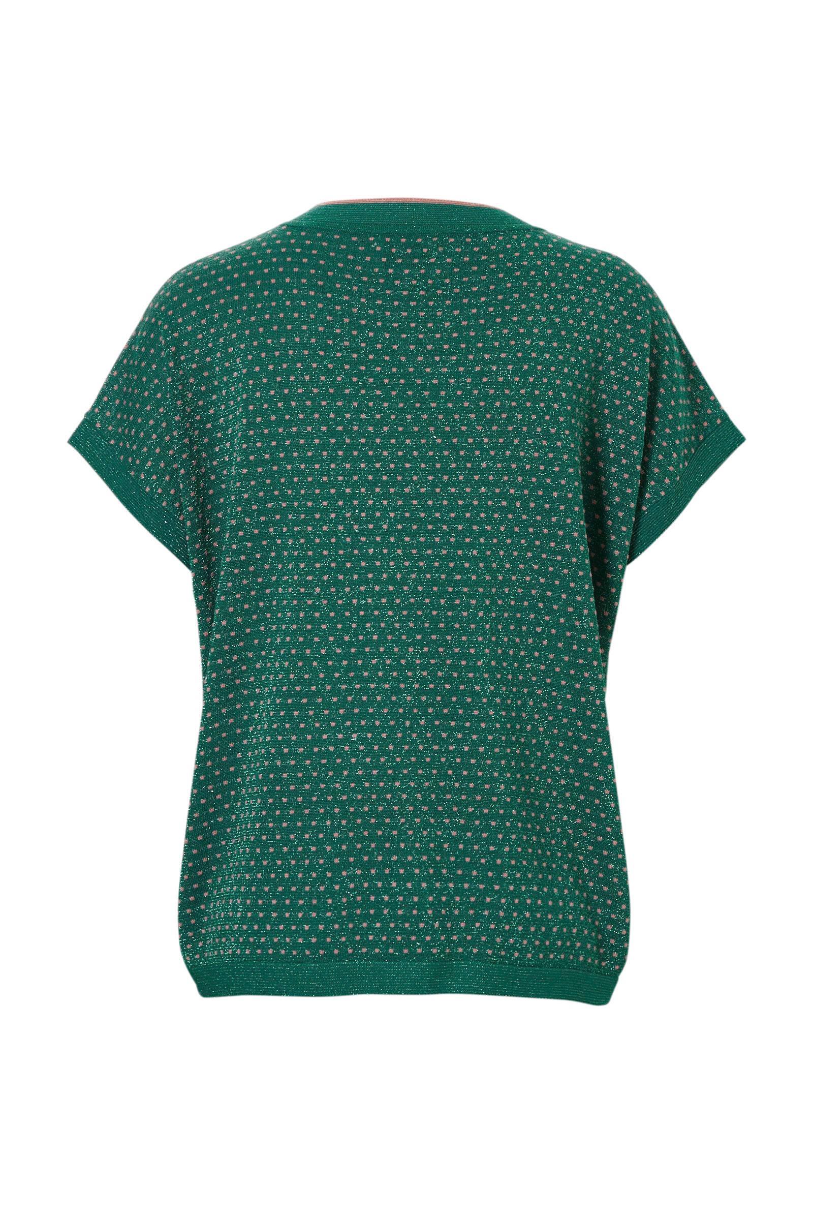 NÜMPH T shirt met all over print roze Tops, T shirts en