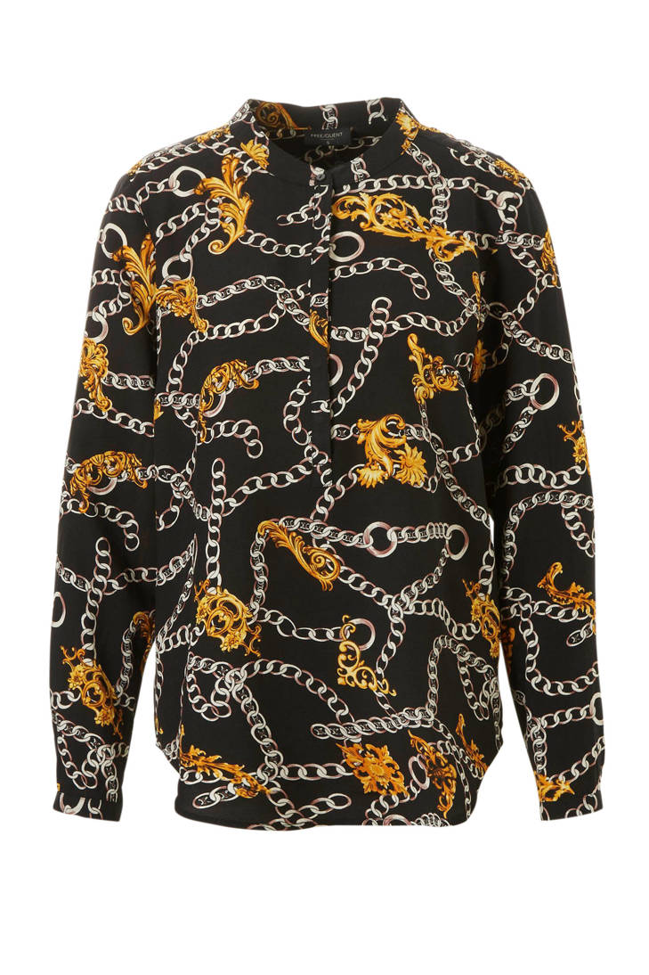 FREEQUENT blouse FREEQUENT met kettingprint met kettingprint blouse 6gq6Orwd