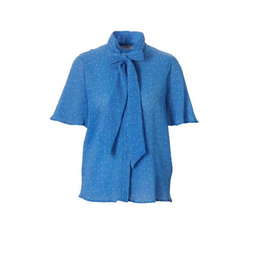 NÜMPH blouse met stippenprint