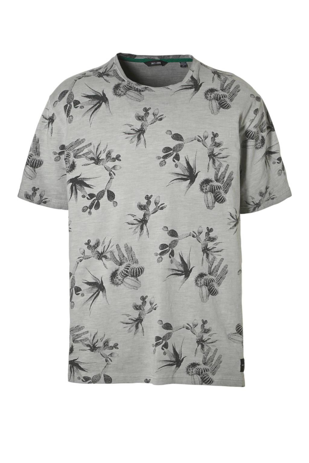 ONLY & SONS T-shirt, Grijs melange