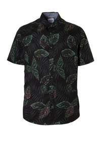 ONLY & SONS slim fit overhemd met all over print zwart, Zwart
