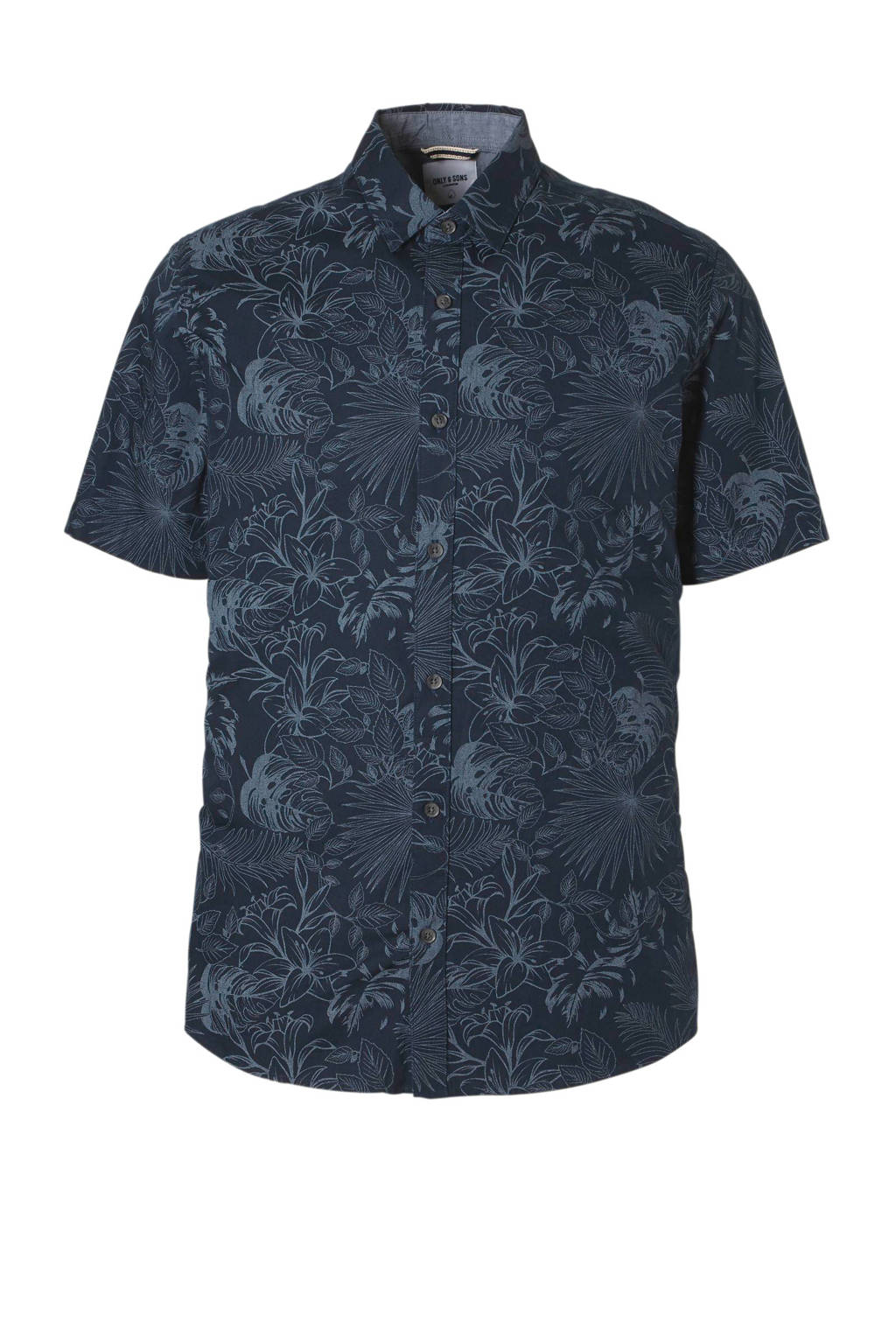 Only & Sons slim fit overhemd, Donkerblauw