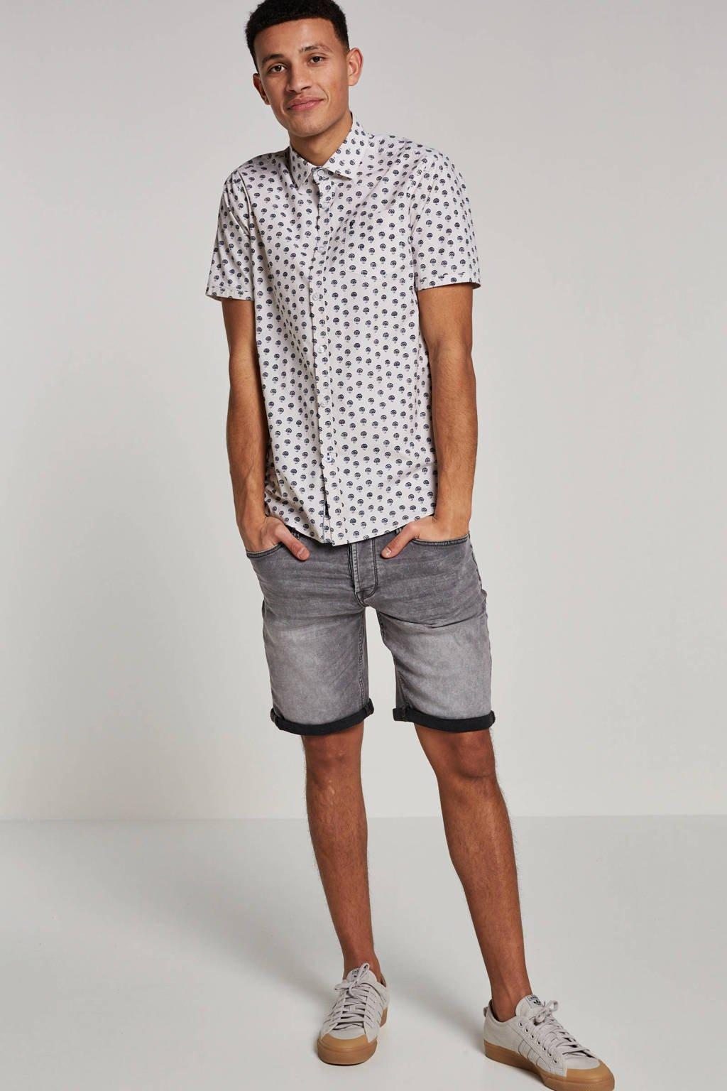 Only & Sons regular fit jeans short, Grijs
