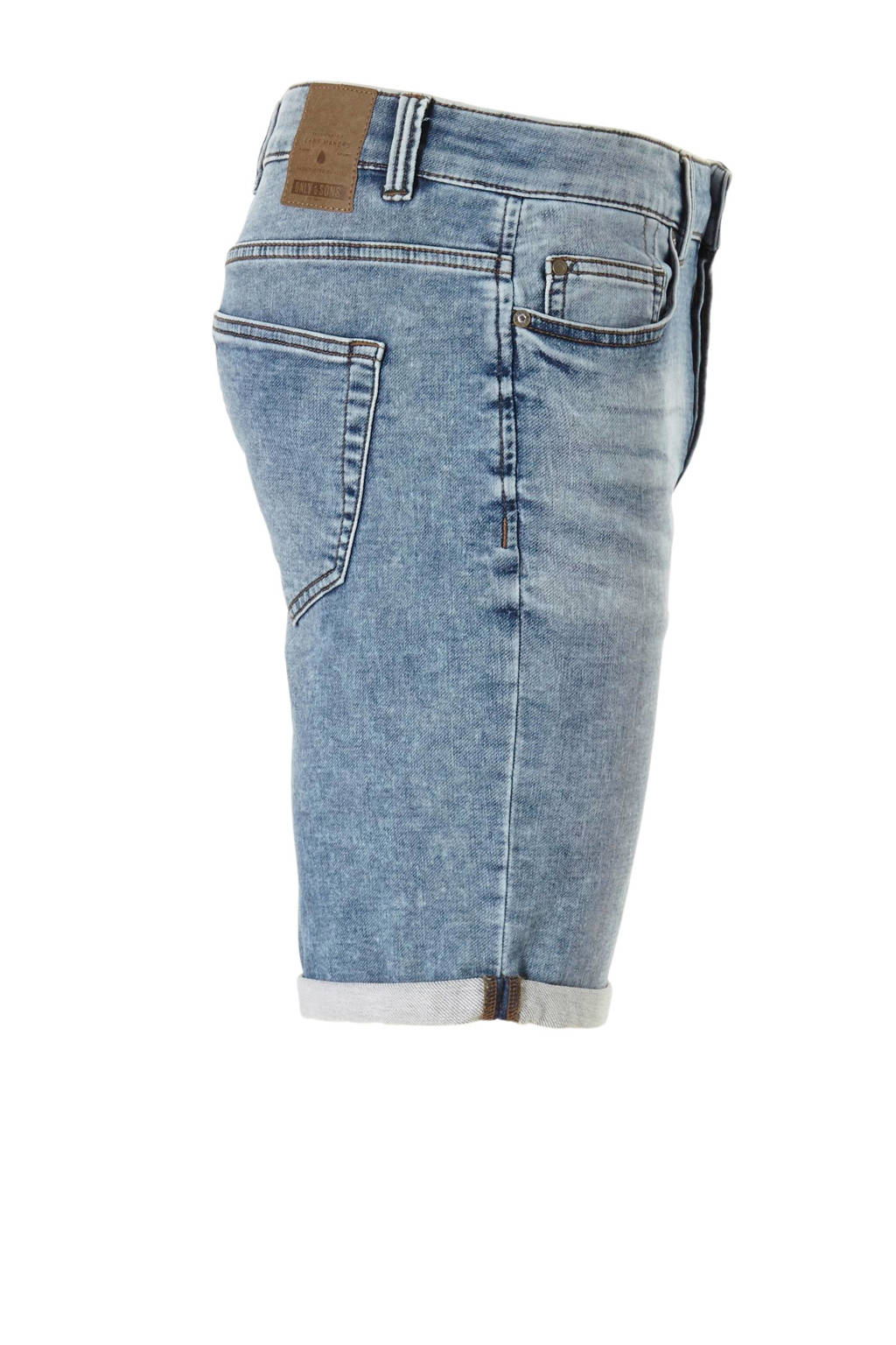 ONLY & SONS regular fit jeans short, Blauw