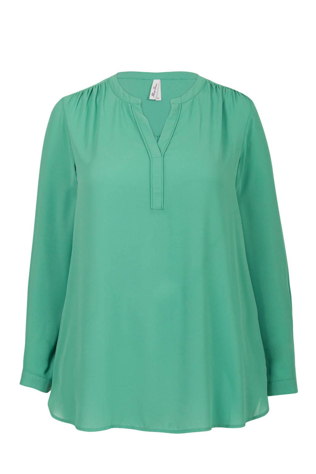 Miss Etam Plus top groen, Groen