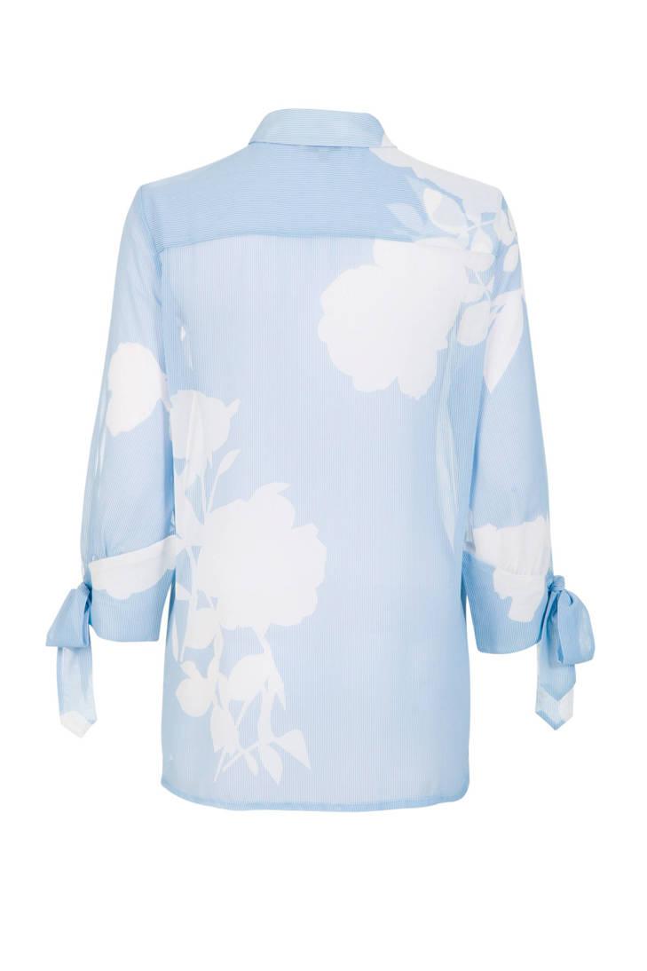 over blouse blauw print met Promiss all BtUqdBnF1