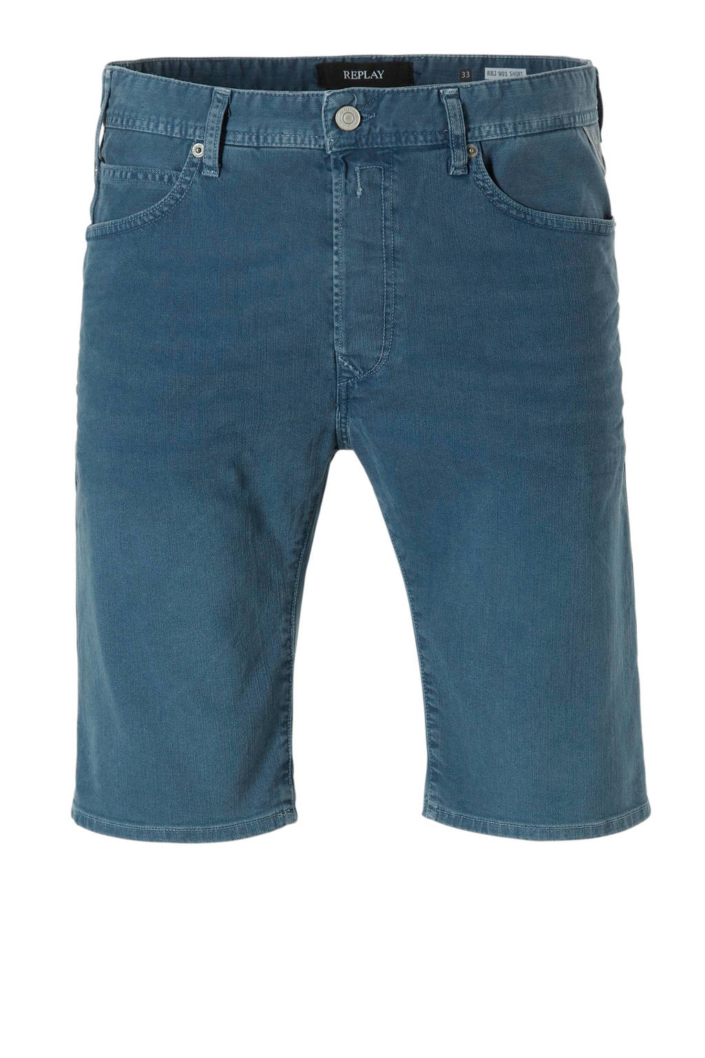 REPLAY regular fit jeans short, Storm Blue