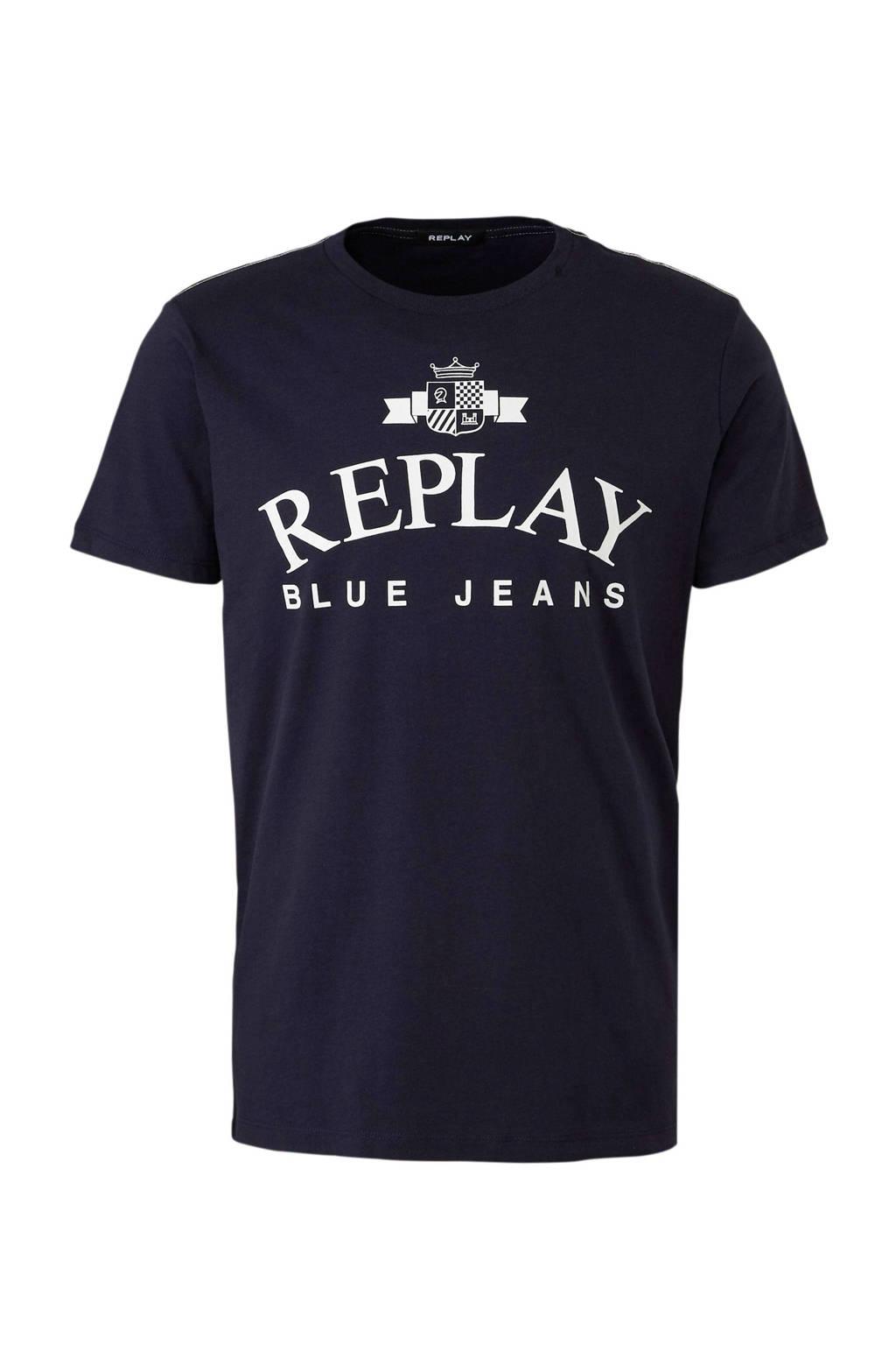 REPLAY t-shirt, Donkerblauw