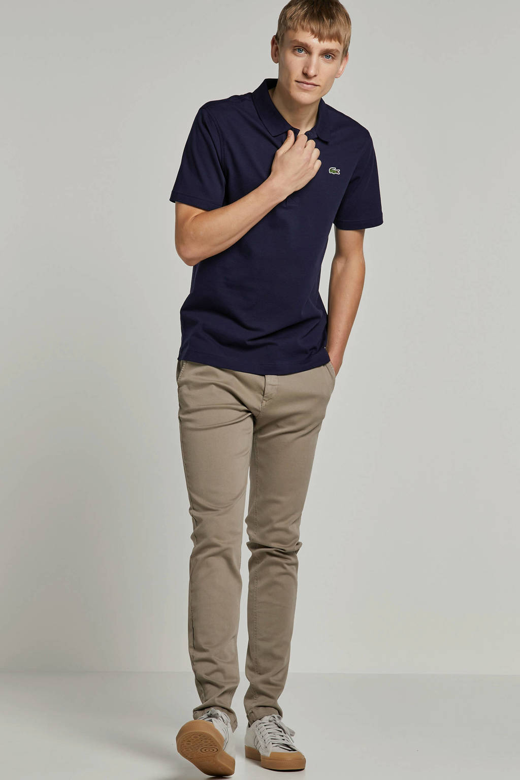 REPLAY slim fit chino lichtbruin, Lichtbruin