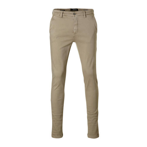 REPLAY slim fit chino lichtbruin