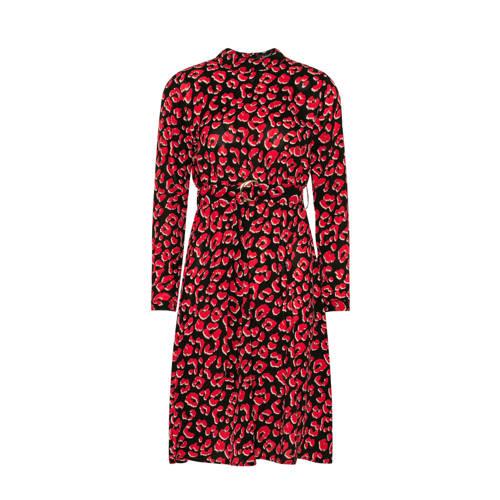 SisterS Point jurk met panterprint rood zwart