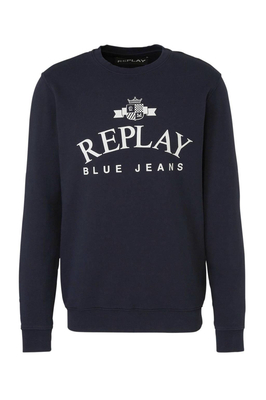 REPLAY sweater blauw, Donkerblauw