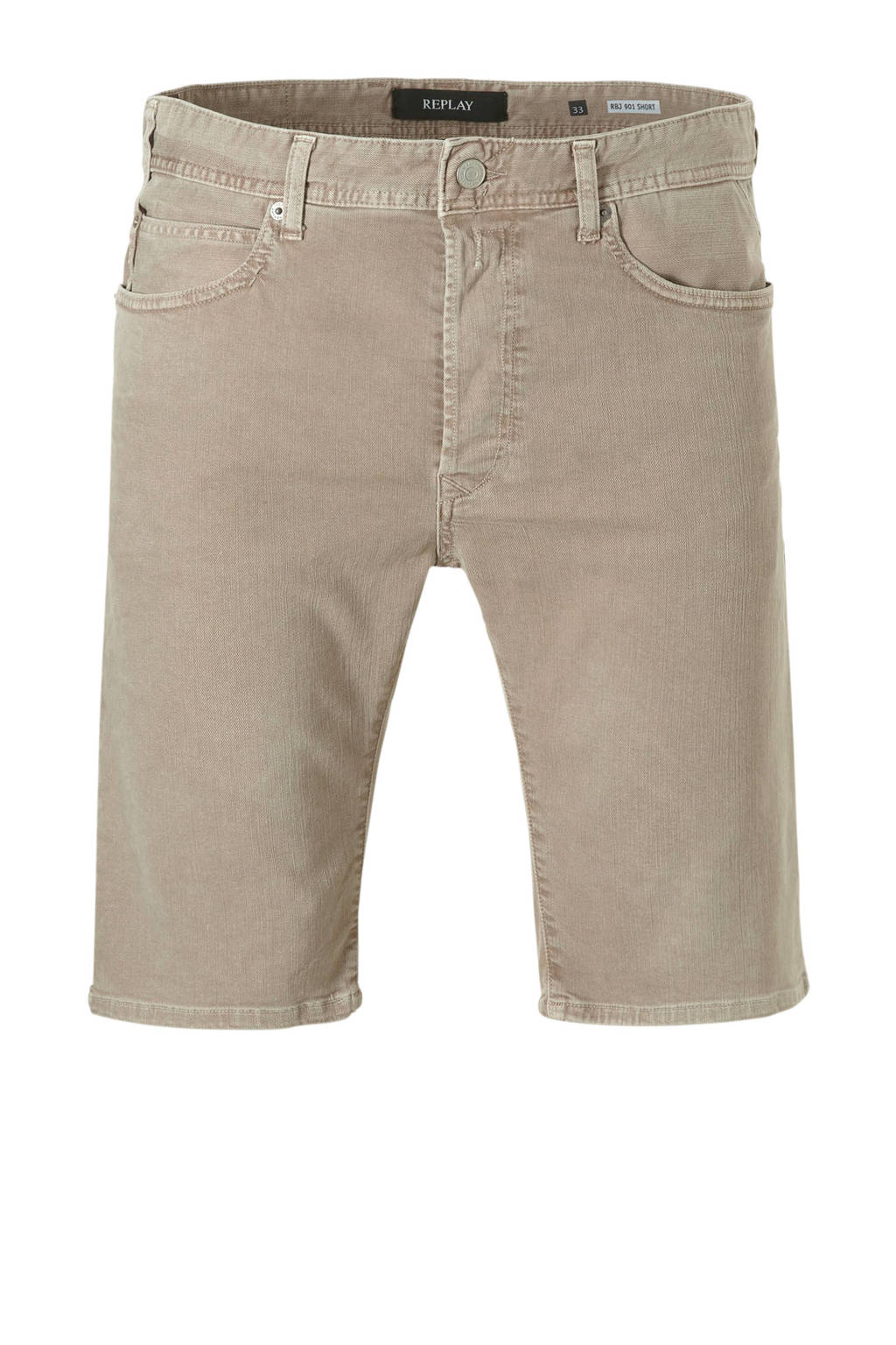REPLAY regular fit jeans short, sand