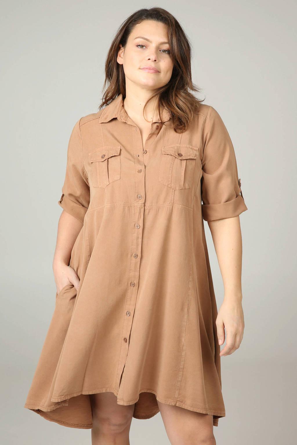 Paprika blousejurk bruin, Camel