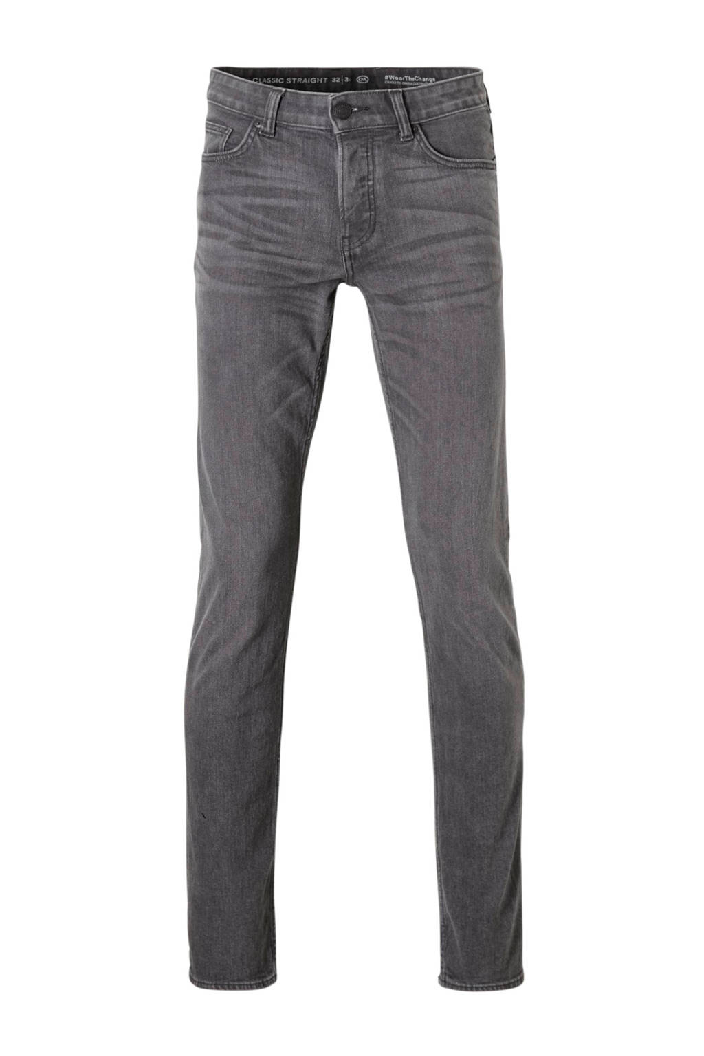 C&A The Denim straight fit jeans grijs, Grijs