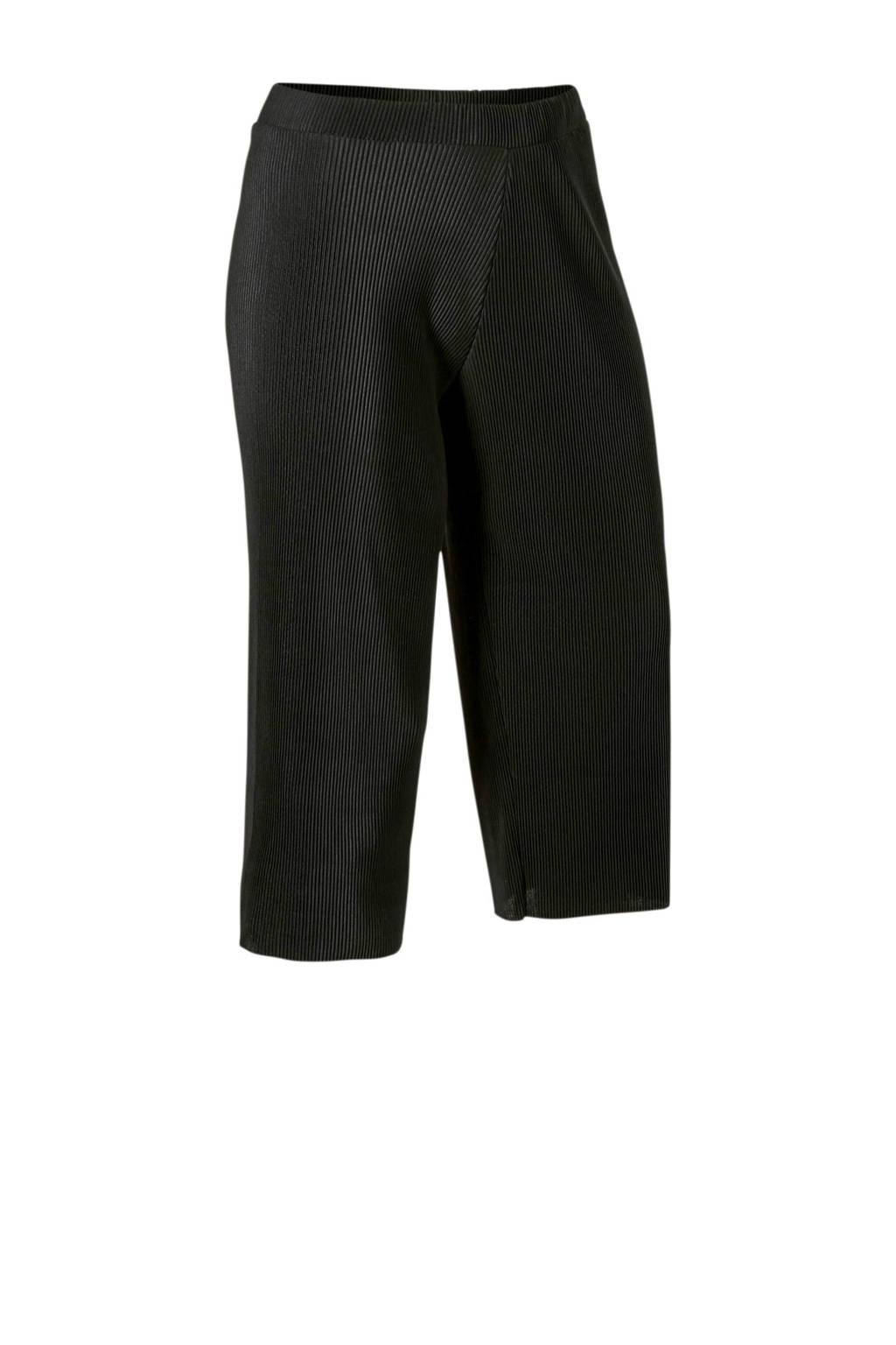 C&A XL Clockhouse culotte met plissé zwart, Zwart