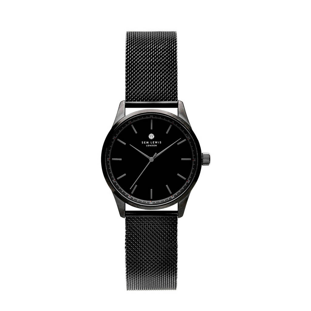 Sem Lewis horloge  SL1100011, Zwart