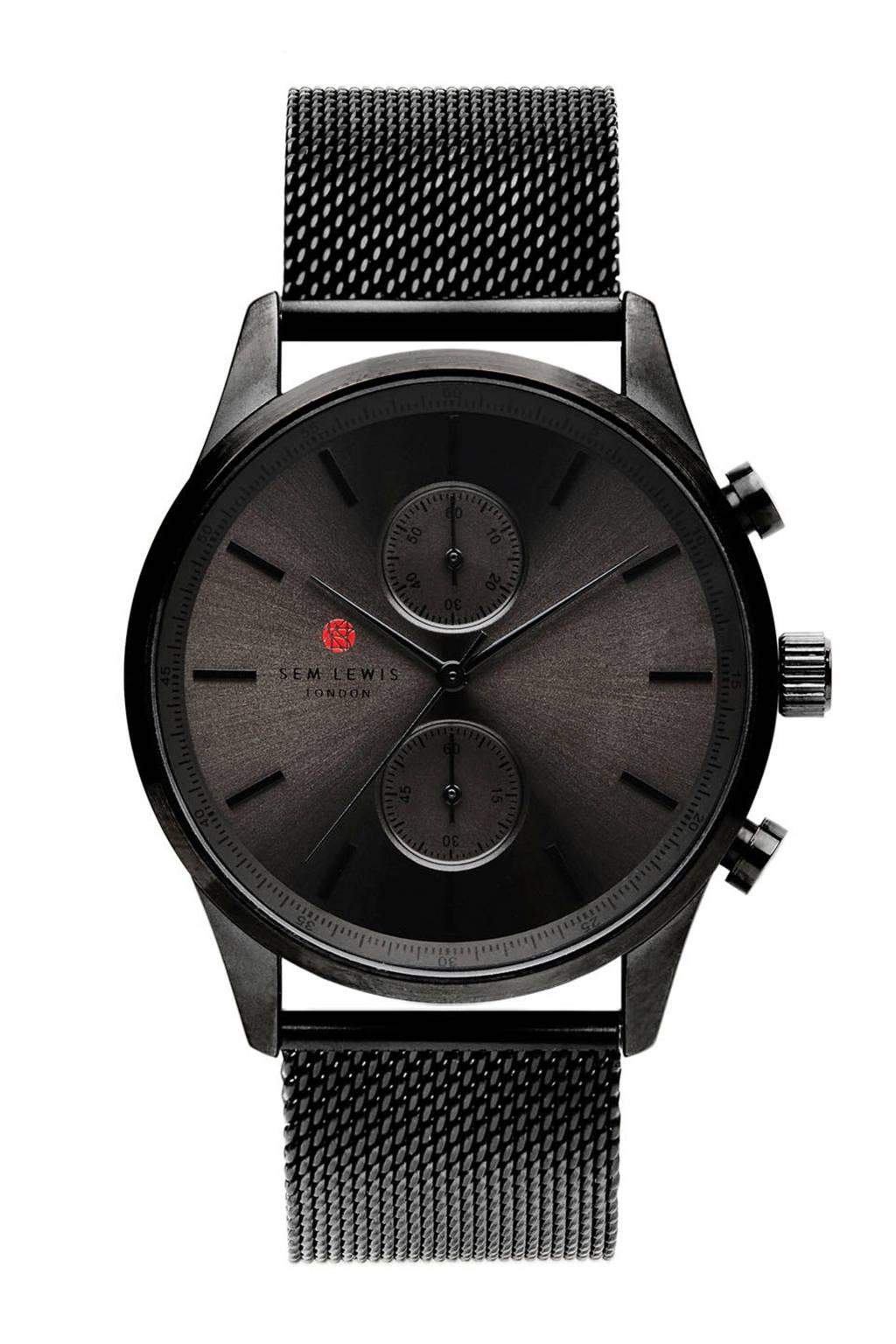 Sem Lewis horloge  SL1100008, Zwart