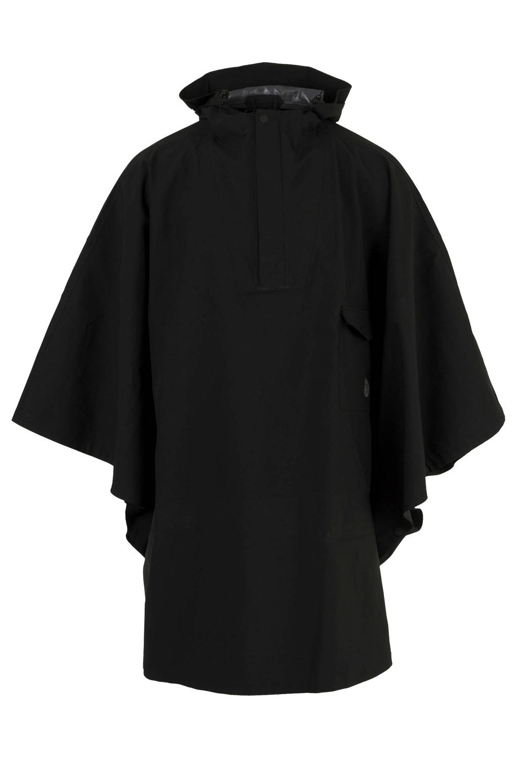 AGU regenponcho zwart, Zwart