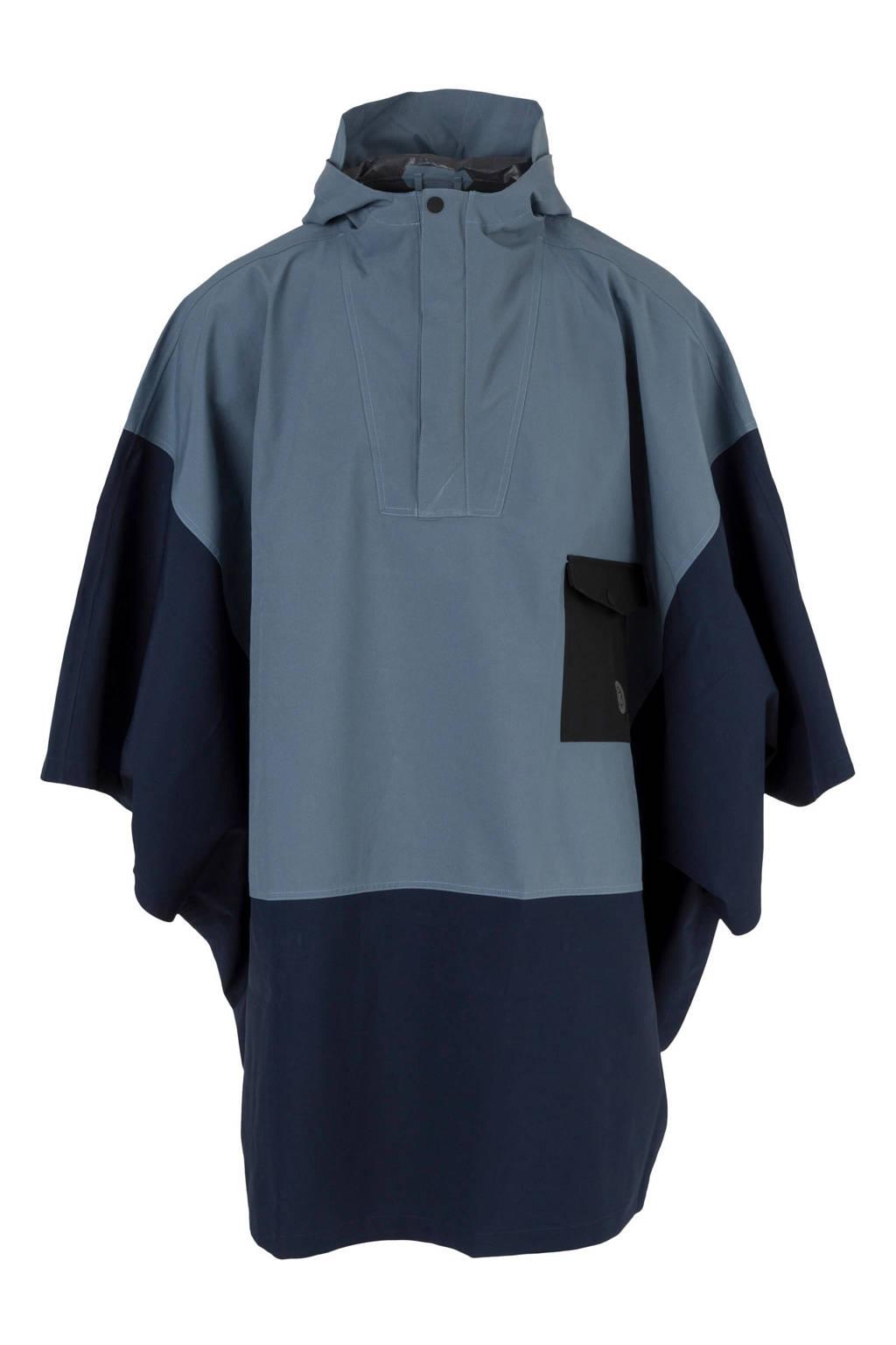 AGU regenponcho blauw, Blauw